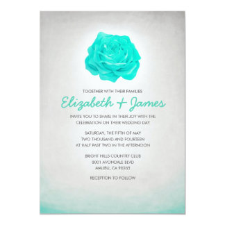 Vintage Scrolls Contemporary Casual Wedding Card