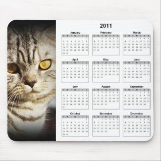 Cat 2011 Calendar Mousepad mousepad