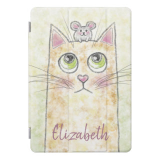 Cat and Mouse Illustration iPad Pro Cover