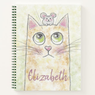 Cat and Mouse Illustration Notebook