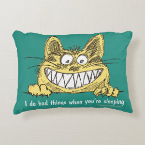Cat Does Bad Things When You Sleep Decorative Pillow