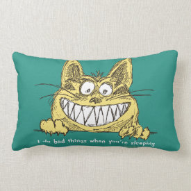 Cat Does Bad Things When You Sleep Throw Pillow