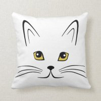 Cat Face Throw Pillow | Zazzle