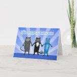 Cat Friends, Good friends are hard to find. Card