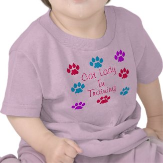 Cat Lady In Training T Shirt
