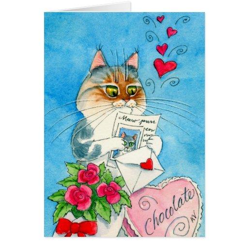 Download Cat Love Letter Card | Zazzle