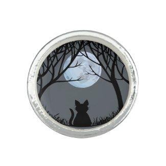 Midnight Black Cat Rings
