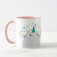 Cat Unicorn Caticorn Colorful Stars Chic Funny Mug