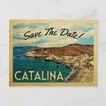 Catalina Island Save The Date Vintage California Announcement Postcard