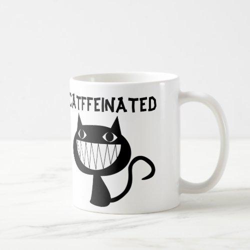 CATFFEINATED funny coffee cat mugs