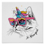 Cool Caticorn With Sunglasses