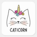 ❤️ Caticorn Square Sticker