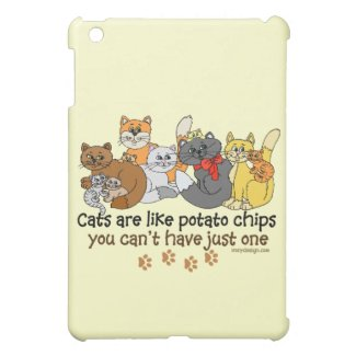 Cats are like potato chips iPad mini case