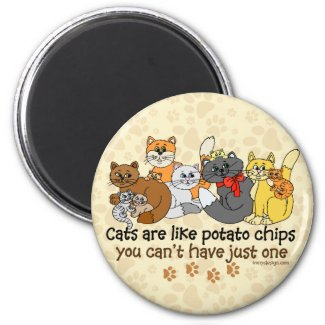 Cats are like potato chips magnet