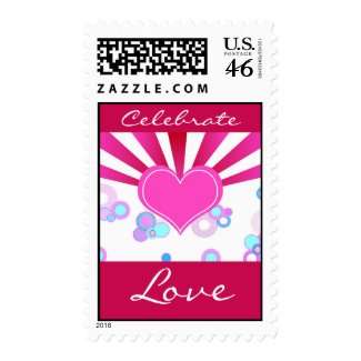 Celebrate Love - Postage stamp