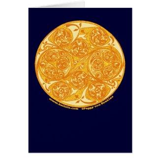 Celtic Spiral Card, Sun Mandala Design
