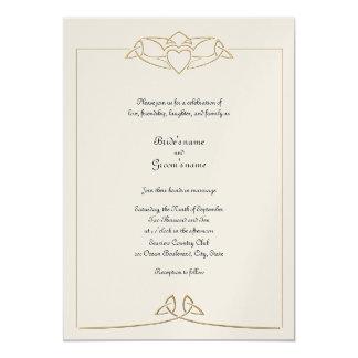 Celtic Claddagh Invitation