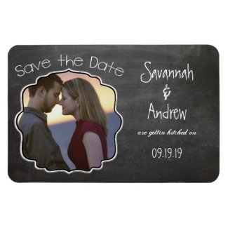 Chalkboard Art Wedding Save the Date