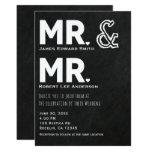 Chalkboard Chalk Mr. & Mr. Gay Wedding Engagement Invitation
