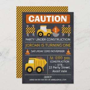 construction invitations zazzle
