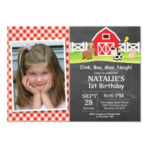 18 farm based kids birthday invitations