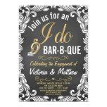 ❤️ Pretty Vintage Inspired I Do BBQ invitation