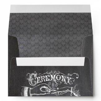 Chalkboard Modern Vintage Wedding Envelopes
