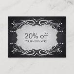 Chalkboard Swirl Coupon Card Voucher Discount