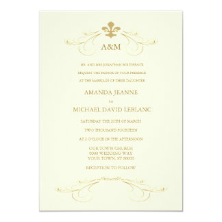 Botanical Wedding Invitation Middot Fleur De Lys