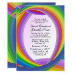 Chaotic Rainbow Wedding Invitations