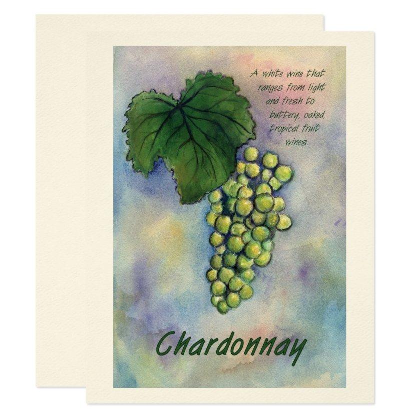 Chardonnay Wine Grapes & Description Invitation