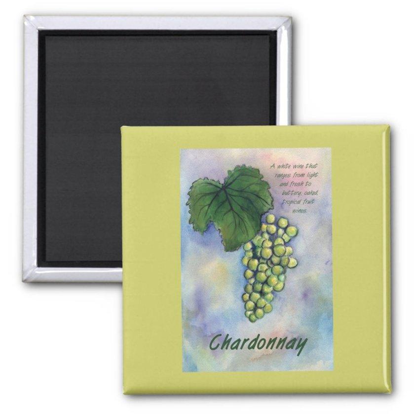 Chardonnay Wine Grapes & Description Magnet