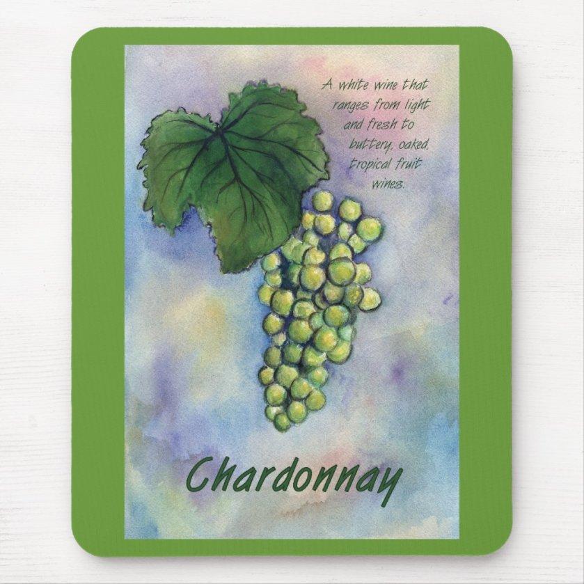 Chardonnay Wine Grapes & Description Mousepad