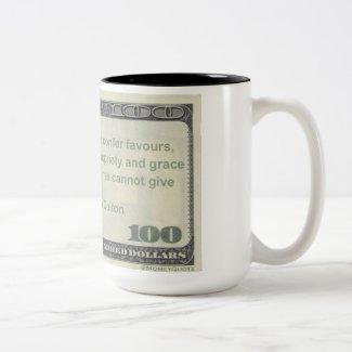 Charles Caleb Colton Money Quote Mug: Rich Favors Two-Tone Coffee Mug
