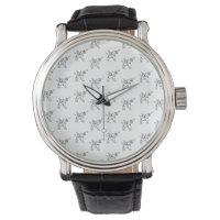 Chasin' Unicorns Geometric Crystal Unicorn Pattern Wrist Watch