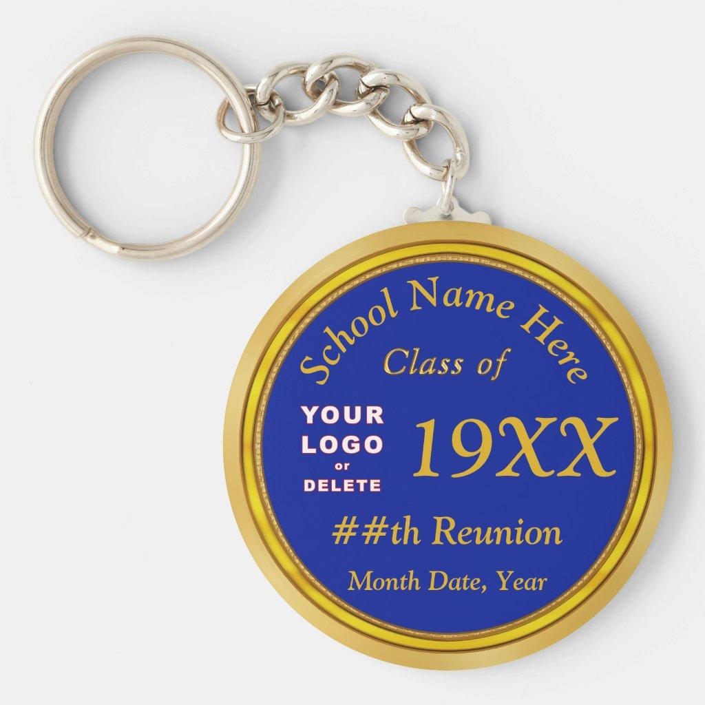 Cheap Class Reunion Souvenirs, Logo, Text, Colors Keychain
