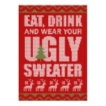 Cheap Ugly Sweater Christmas Party Invitation