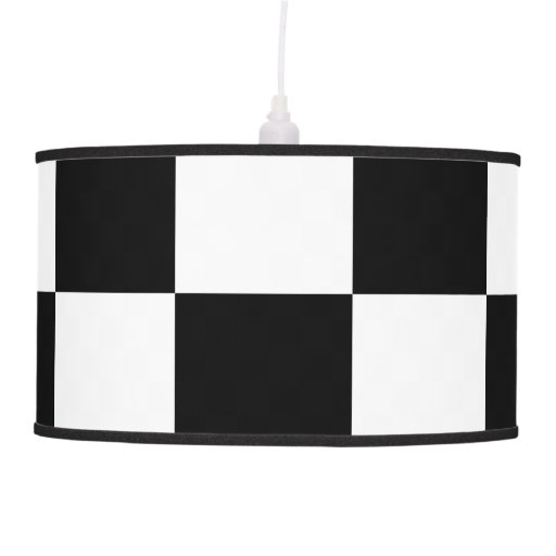 Checkered Black and White Ceiling Lamps