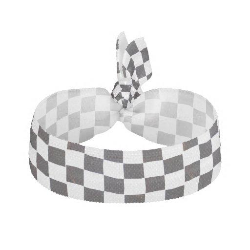 checkered flag hair tie zazzle