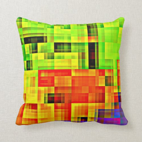 Checkered Pillow with a Touch of Purple