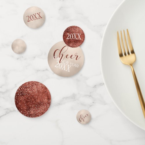 Cheer the New Year Glam Diamond and Gold Foil Confetti