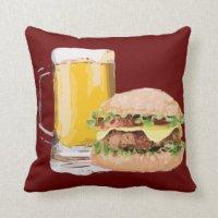 Burgers Pillows - Decorative & Throw Pillows | Zazzle