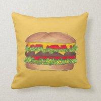 Cheeseburger Pillows - Decorative & Throw Pillows | Zazzle