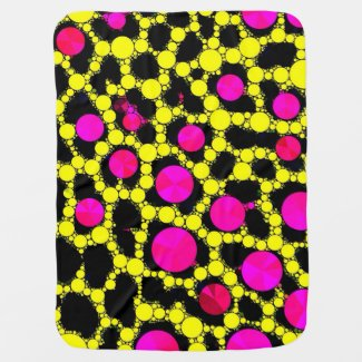 Cheetah BLING Hot Pink/Florescent Baby Blanket