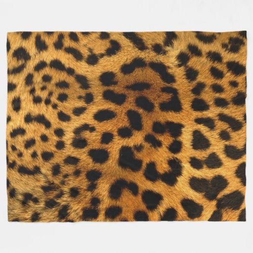 Cheetah Fur Pattern Fleece Blanket