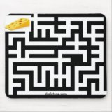 Cheese Mouse Maze Mousepad