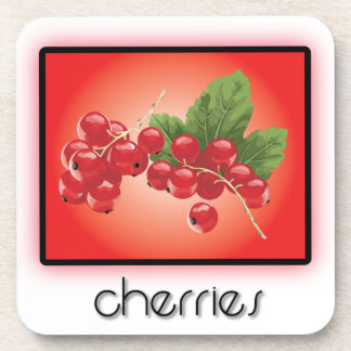 Cherries Beverage Coasters