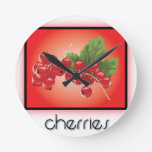Cherries wall clocks