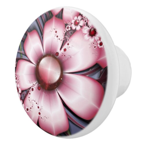 Cherry Bloom Ceramic Knob