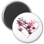 Cherry Blossom Heart magnets